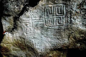 Petroglifos del abrigo de Sierra Prieta