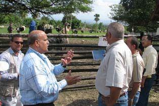 Fernández Mirabal conversó con Radhamés Fermín sobre el parque