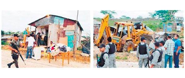 Recuperan áreas protegidas habían construidos casuchas