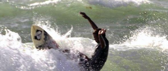 Surfistas FEDOSURF retaron oleaje tormenta tropical Emily en Cabo Mongó Eko Surf 2011