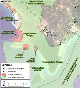Mapa Litoral de Pedernales