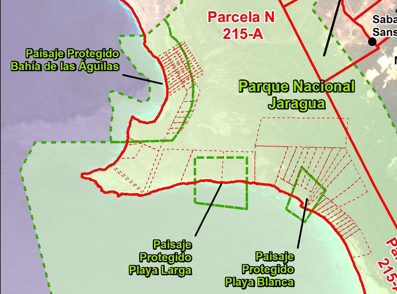 Ampliación del mapa anterior sobre el área lotificada. Más explicación en el texto (hacer clic para una vista ampliada)