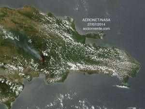 Imagen de satelite del incendio en valle nuevo