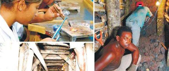 Extracción y procesamiento de larimar llena de riquezas varias comunidades de Barahona