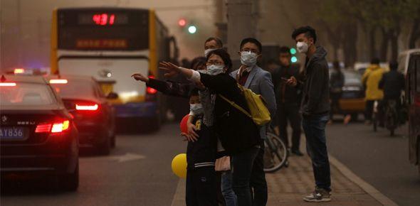 La contaminación del aire en Pekín dista más del doble del objetivo nacional