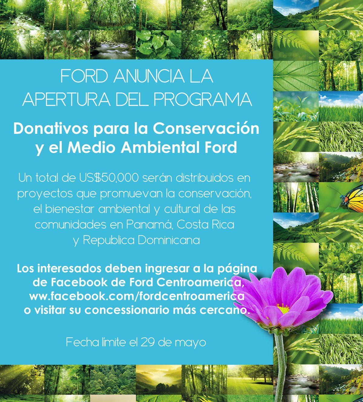 Ford abre convocatoria para la 14a edición del programa Donativos para la Conservación y el Medio Ambiente.