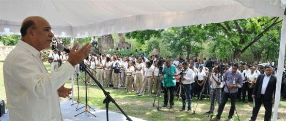 El Ministerio de Medio Ambiente y Recursos Naturales celebró el Día de la Madre Tierra con una actividad en el Parque Mirador del Oeste (Palacio de Engombe) junto a cientos de estudiantes de escuelas y colegios de la ciudad.