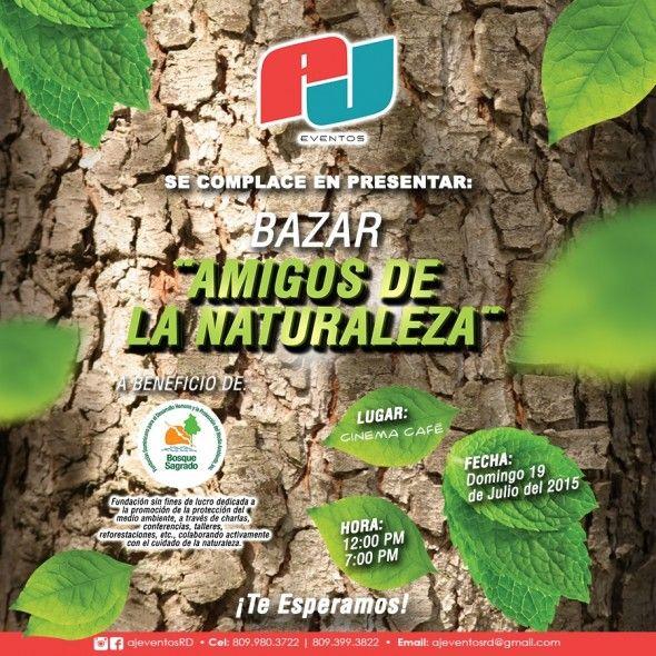 Fundación Bosque Sagrado les invita a participar en el BAZAR AMIGOS DE LA NATURALEZA