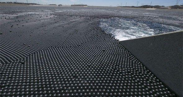 Más de 96 millones de bolas negras para detener la evaporación de una reserva de agua de Los Ángeles