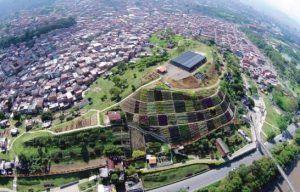 Vista actual del morro de Moravia, Medellín.