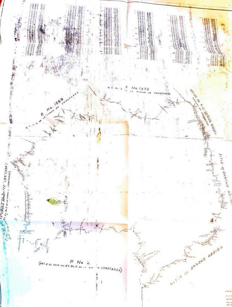Este plano fue utilizado para la repartición del corte de madera y con esto desplazar parcelas ubicadas en la comuna de Constanza. ( FUENTE EXTERNA)
